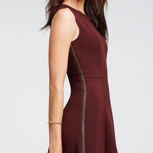 Ann Taylor Leather Braid Seamed Dress